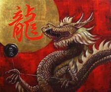Yoyo Master Lucia Heffernan Dragon Art Print 18x15