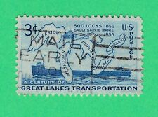 United States USA 1955 Anniversary Soo Locks 3C Great Lakes transportation #1069