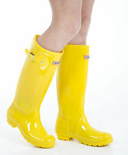 Donna Stivali di gomma - Donna Giallo Stivali Wellington - Taglia 6 UK - EU 39