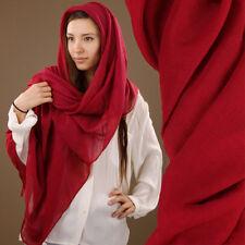 Extra Large Plain Red Soft Sheer Lightweight Scarf Wrap Sarong Viscose 180x90cm