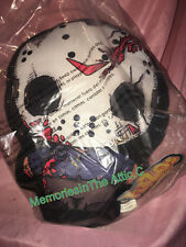 "Mezco Toyz Plush Friday The 13th Jason Voorhees Flatzos 12"" Hockey Mask Crystal"