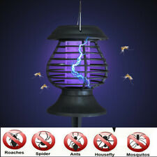 Mosquito Killer Solar LED Lamp Outdoor Waterproof Garden Yard Insect Trap Kit