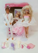 1989 DANCE MAGIC BARBIE & KEN Dolls #4836 & #7081 Color Changing 100% COMPLETE