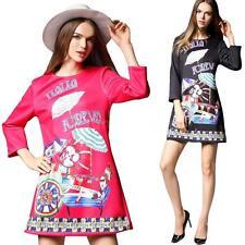 3/4 Sleeve Formal Floral Regular Size Dresses for Women