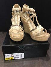 NEW Kardashian Kollection Gold Goddess Sandals Size 7 UK - Wedge Heel