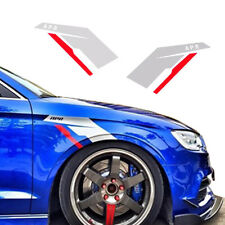 2pcs Silver APR Fender Side Scuttles Tuner Vinyl Decal Stickers for VW BMW AUDi