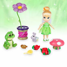 "Disney Store Tinkerbell Animator Collection 5"" Toddler Doll Box Play Set Figure"