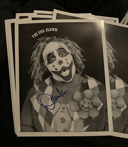 RARE Doink The Clown Signed Original 8x10 Photo  WWE Wwf matt borne