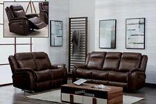 Brown Leather Gel Recliner 3 Seater 2 Seat or Armchair Sofa Suite NEWBURY 31