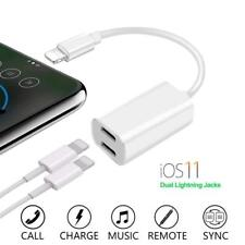2 in 1 Dual Lightning Splitter Adapter Audio Cable for iPhone 7 7plus 8 8 plus