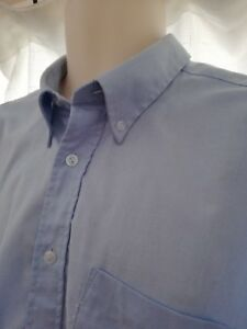 """BUTTON DOWN OXFORD SHIRT SKINHEAD MOD SCOOTER suit a big man  pit to pit 28.5"""" *"""