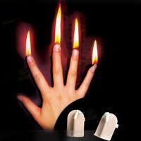 4 Pcs/ Set Finger Fire Magic Tricks Close Up Stage Magic Props Professional Prop