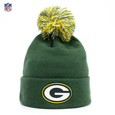 NFL Edition Green Bay Packers Bommel Strick Mütze American Football Beanie Grün