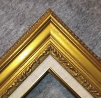 """3.25"""" Antique Gold Leaf Ornate photo Oil Painting Wood Picture Frame 1G"""
