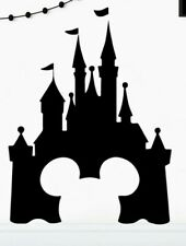 Disney Castle Mickey Ears Wall Decal 3D Sticker Child's Bedroom Nursery - Blue