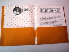 HUEY LEWIS and The NEWS FORE PRESS RELEASE 1986