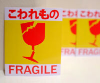 "Japan Fragile Baggage Label  Travel Luggage 3x4"" Decal STICKER #4423"