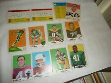 #98 vtg MIXED LOT of 12  FOOTBALL CARDS 1960`s ???