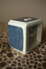 Vintage Westclox White With Jeans Fabric Look Like Dialite  Electric Alarm Clock