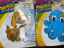 Lot Of 6 Makit & Bakit Suncatcher Kit -  sun And Chick Octopus Puppy Planet Flag