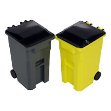 Mini la acera basura y reciclar puede establecer Escritorio Lápiz Copa titular-Gris/Amarillo