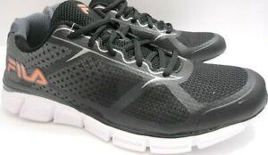 Fila Memory Quickstart 2 Running Shoe Black/Grey Vibrantt Orange Mens Size 11.5