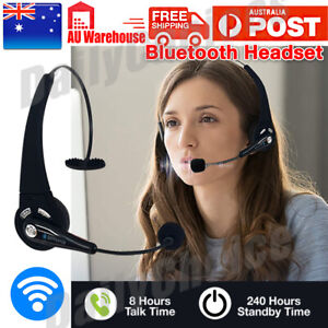 Bluetooth Wireless Headphones Over Head with Mic Business Driver Headset AUS