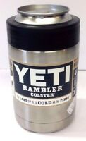 YETI RAMBLER COLSTER CAN / BOTTLE HOLDER COOLER STAINLESS STEEL KOOZIE NEW