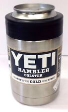 YETI RAMBLER COLSTER CAN / BOTTLE HOLDER COOLER STAINLESS STEEL