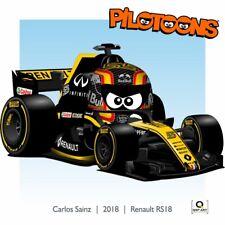 Print on Canvas Renault RS18 2018 #55 Carlos Sainz Jr. (ESP) by BM