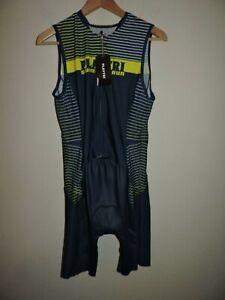 PlayTri Men Triathlon Performance Race Suit Cycling Bike Sleeveless Clothing 2XL
