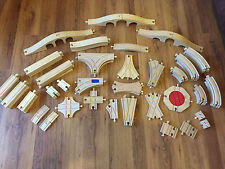 Brio & Compatible Wooden Train Track Straights, Corners Junctions - Combine Post