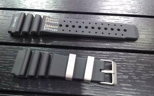CITIZEN PROMASTER AQUALAND RUBBER WATCH BAND FITS JP2000-08E BLACK STRAP 24MM