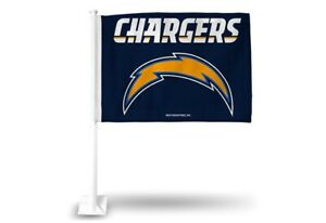 Los Angeles Chargers NFL Licensed 11X14 Window Mount 2-Sided Car Flag