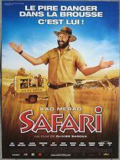 Affiche SAFARI Olivier Baroux KAD MERAD 40x60cm *