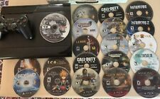 Sony PlayStation 3 Slim 500 GB Charcoal Black Video Game Home Console W/20 Games
