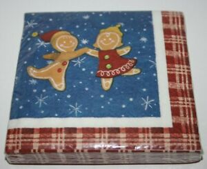 24 New Year's Christmas Eve Happy Party Paper Napkins Ginger Cookies Decoupage