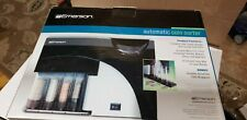 Emerson Automatic Coin Sorter 4 Barrel Battery Operated New