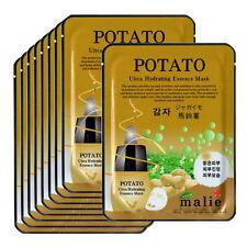 Potatoes Face Mask Pack Sheet Moisture Essence Facial Skin Care 9pcs Unisex