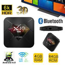 X10 Plus 6K LED TV Box Android 9.0 Quad-Core Dual WiFi HDR 3D Set Top Box 4+64G