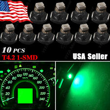 10x T4 T4.2 Neo Wedge 1 SMD LED Tree Green Cluster Instrument Dash Climate Bulbs
