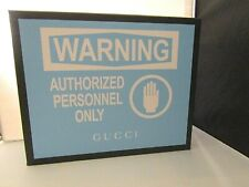 "Authentic GUCCI Rare Collectors Box ""Warning Authorized Personnel Only"" 8 x 10"