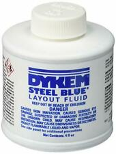 Dykem 80300 Steel Blue Layout Fluid 4oz metalworking scribe quick dry /Brush Cap