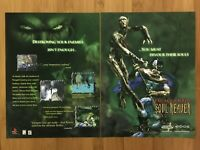 Legacy of Kain: Soul Reaver PS1 1999 Vintage Print Ad/Poster Official Promo Art