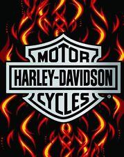 "Harley Davidson Towel JUMBO Flame Fire Beach Pool FULLY LICENSED!!! 54""x68"""