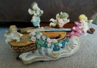 Kingspoint Designs Cherub and Violin Musicbox- Plays Pachebel's Canon in D