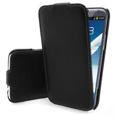 Samsung Galaxy Note 2 N7100 Luxus Flip Case HandyTasche Cover Bumper - schwarz