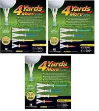 4 Yards More Tees 3x Variety Four pack 3 of each size 12 tees Driver Woods Irons