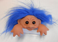 DAM Original Good Luck Computer Troll with Name Tag - Blue Hair, NEW fr Denmark