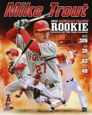 2012 A.L. R.O.Y. Anaheim Angels MIKE TROUT Glossy 8x10 Photo Rookie Print Poster